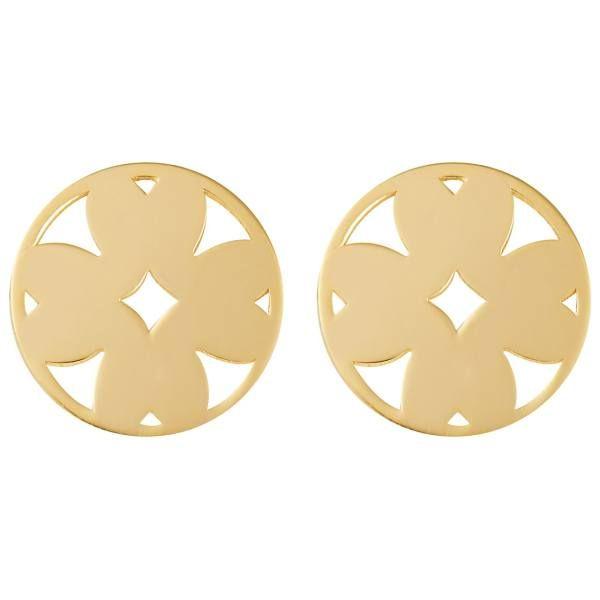 گوشواره طلا 18 عیار زنانه کانیار گالری کد GOA114 -  - 2