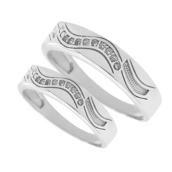 ست انگشتر نقره زنانه و مردانه مدل njkop2233451
