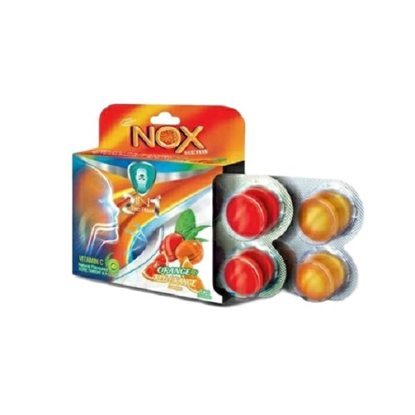 آبنبات سرد خوشبو کننده دهان ناکس مدل پرتقال و پرتقال خونی بسته 12 عددی