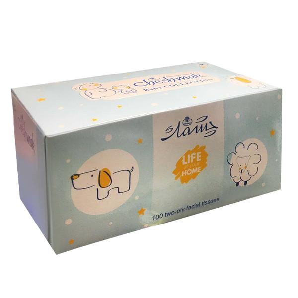 دستمال کاغذی 100 برگ چشمک مدل Blu_e Baby collection