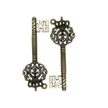 آویز گردنبند زنانه مدل کلید بسته 2 عددی