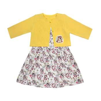 ست کت و پیراهن دخترانه طرح پونی کد 1169