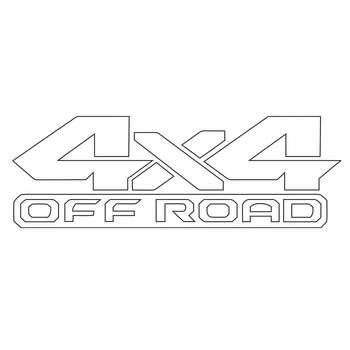 برچسب بدنه خودرو طرح 4X4 آفرود کد m-107