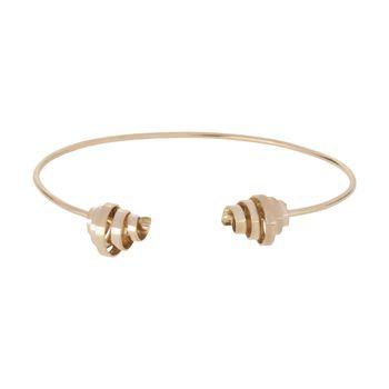 دستبند النگویی طلا 18 عیار زنانه سنجاق مدل X071474