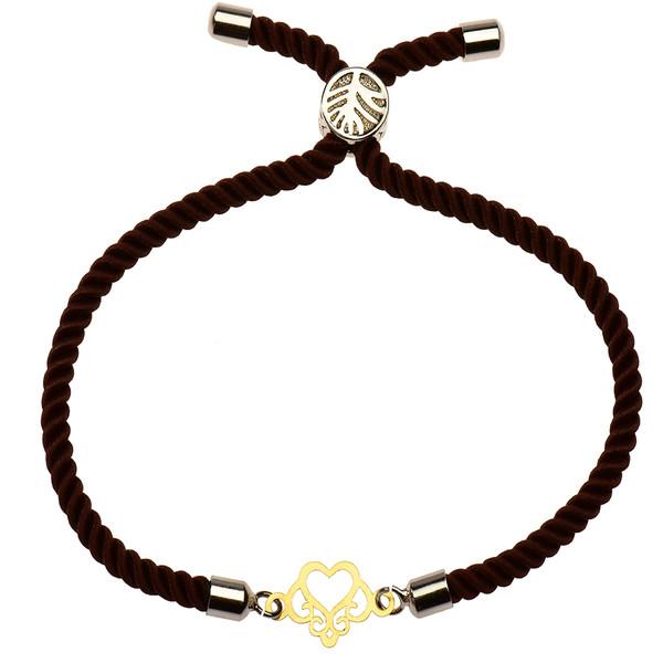 دستبند طلا 18 عیار دخترانه کرابو طرح قلب مدل Krd1114