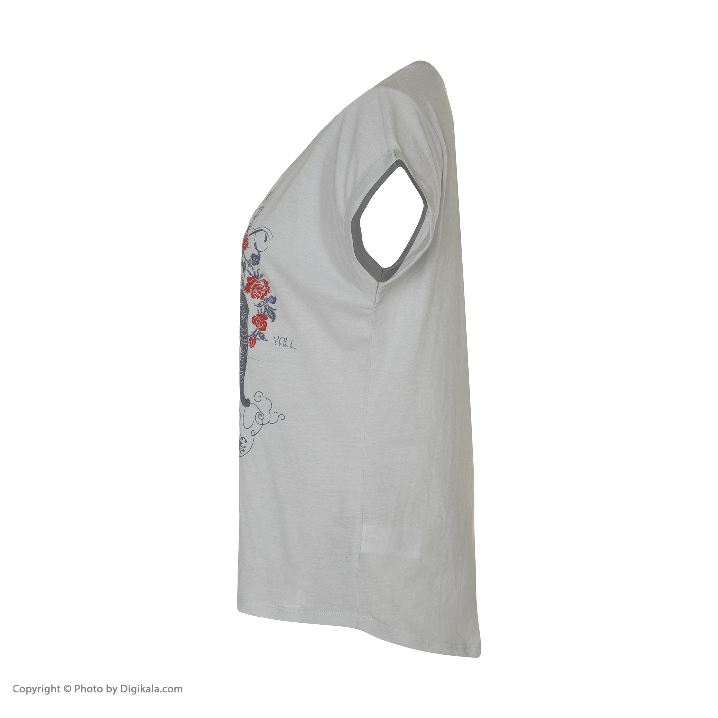 تی شرت زنانه کالینز مدل CL1033142-LIGHTBLUE main 1 2