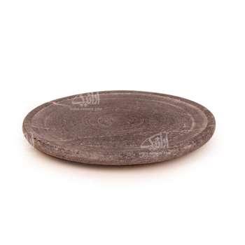 تخته سرو آرانیک گرد سنگی ساده رنگ خاکستری طرح ساده مدل 1009600003