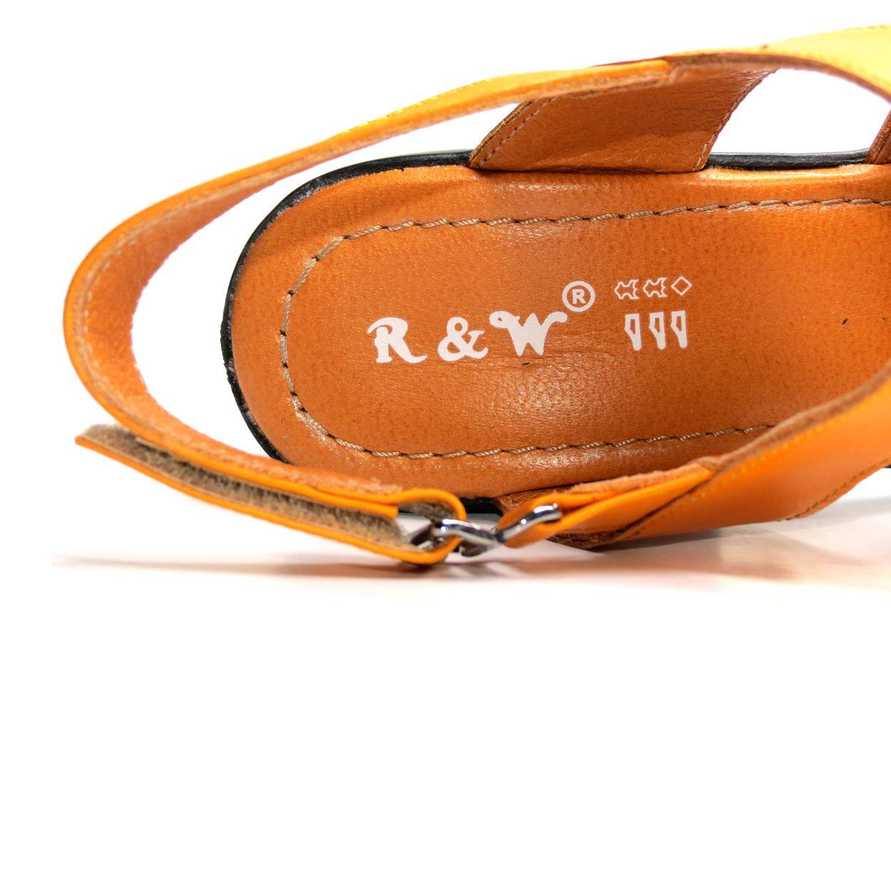 صندل زنانه آر اند دبلیو مدل 654 رنگ پرتقالی -  - 10