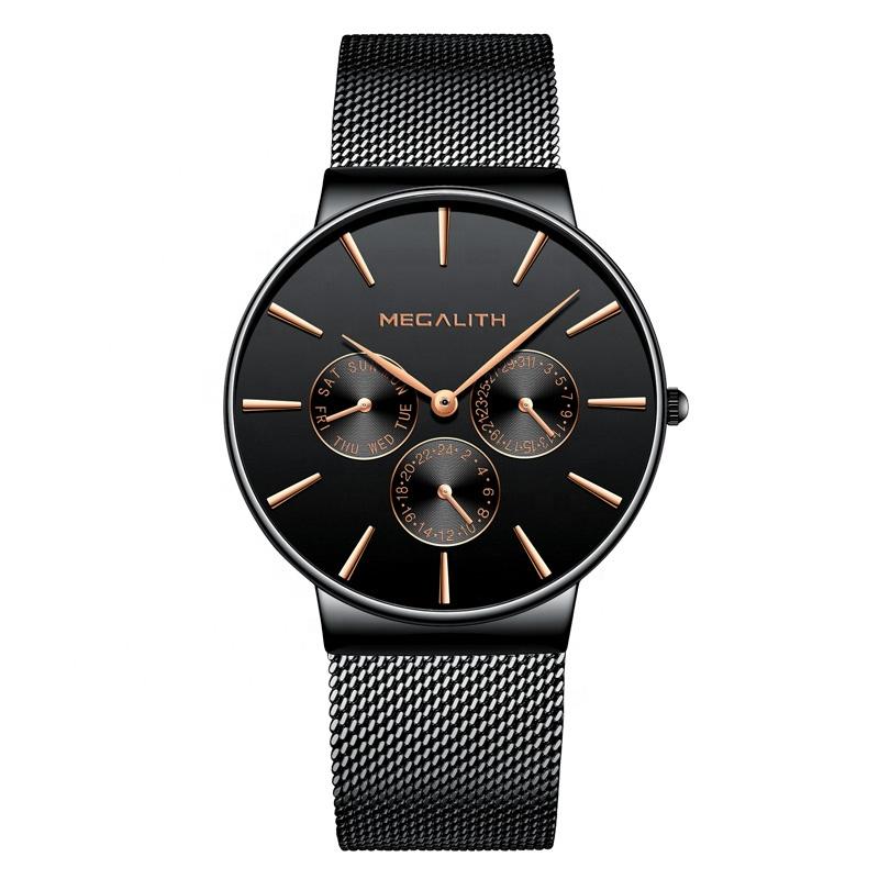 ساعت مچی عقربه ای مردانه مگالیت مدل 0047-bla