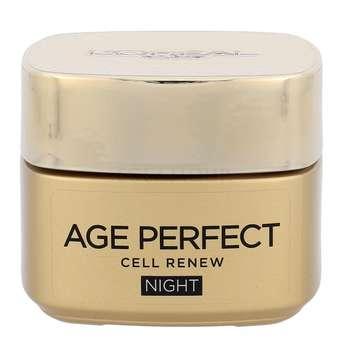 کرم ضد چروک شب لورآل سری Age Perfect مدل Cell Renew حجم 50 میلی لیتر