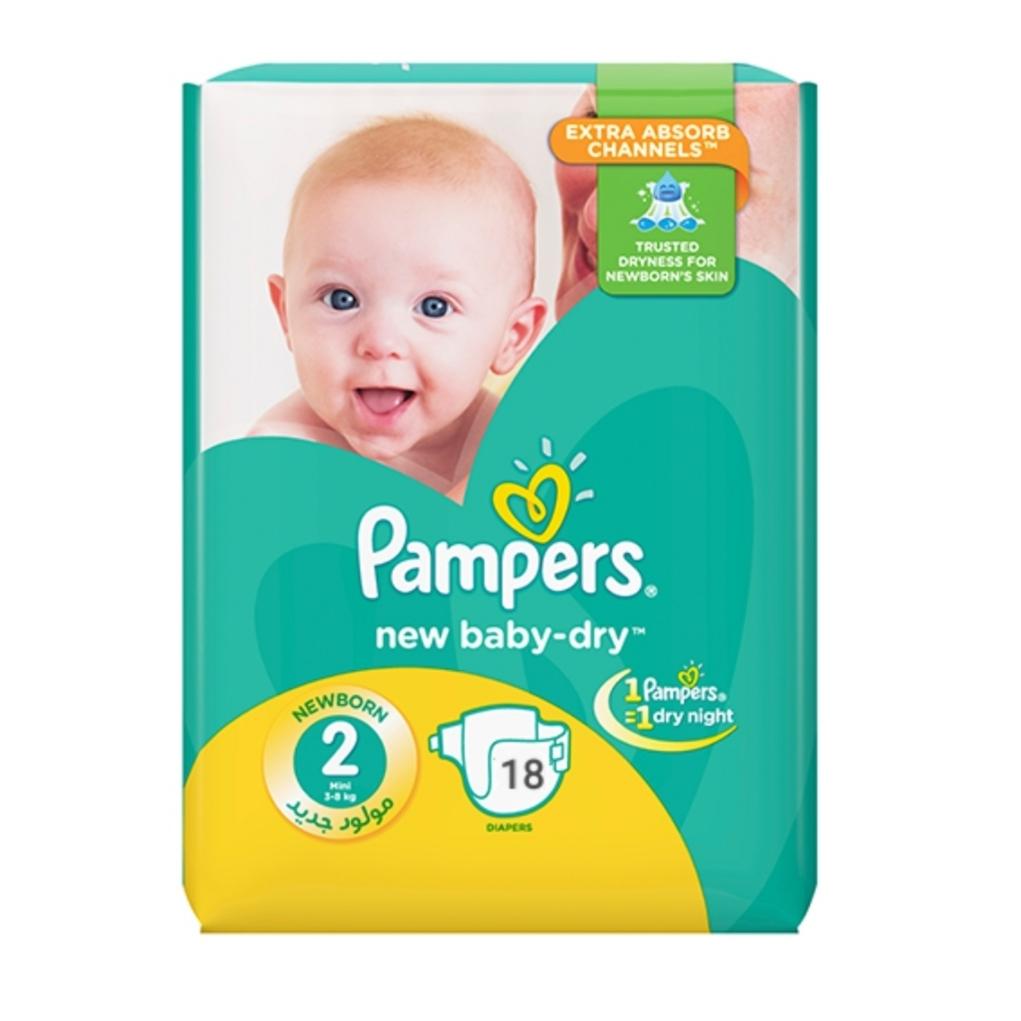 پوشک پمپرز مدل Baby Dry سایز 2 بسته 18 عددی