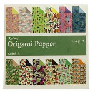 کاغذ اوریگامی سلما مدل فانتزی کد F14 بسته 48 عددی