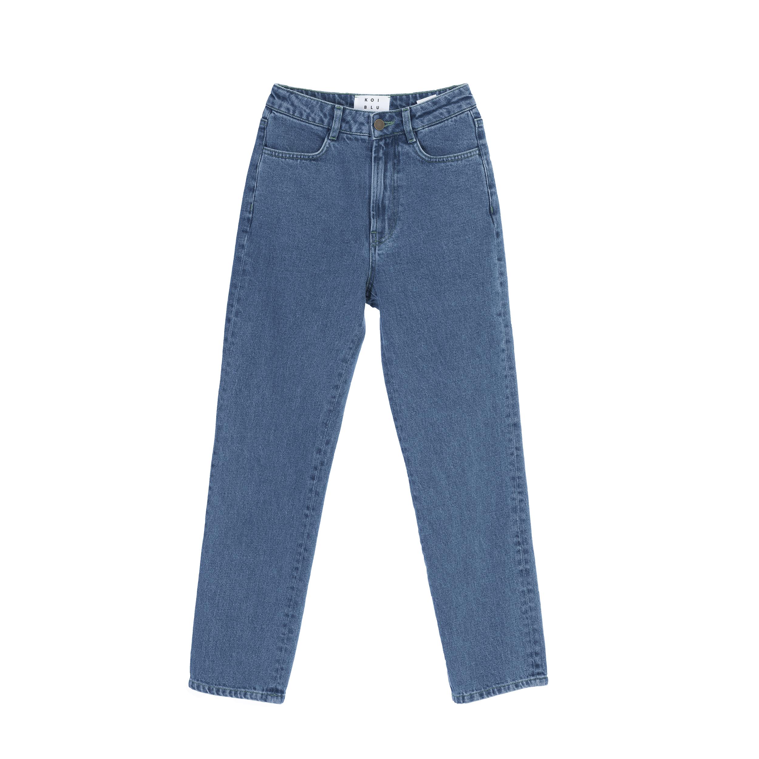 شلوار جین زنانه کوی مدل راسته 137 رنگ آبی تیره
