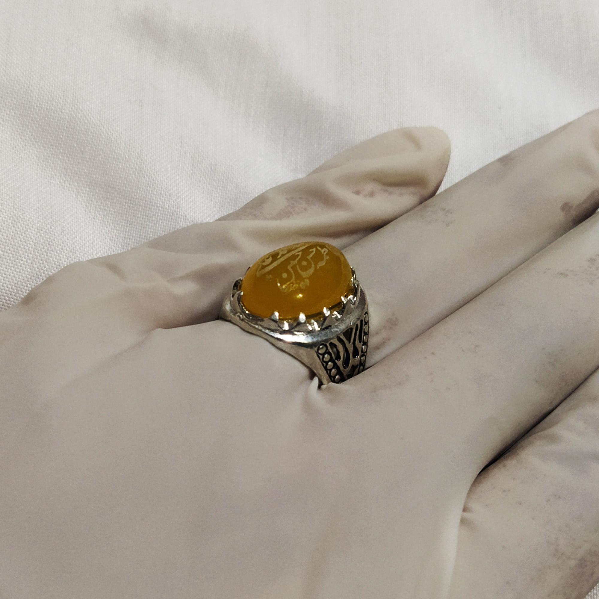 انگشتر نقره مردانه سلین کالا مدل شرف الشمس ce-As66