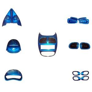 مجموعه تزیینات داخلی خودرو کد 4  مناسب برای پژو 206
