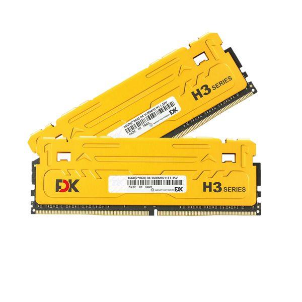 رم دسکتاپ DDR4 دو کاناله 3600 مگاهرتز CL18 فدک مدل H3 ظرفیت 16 گیگابایت