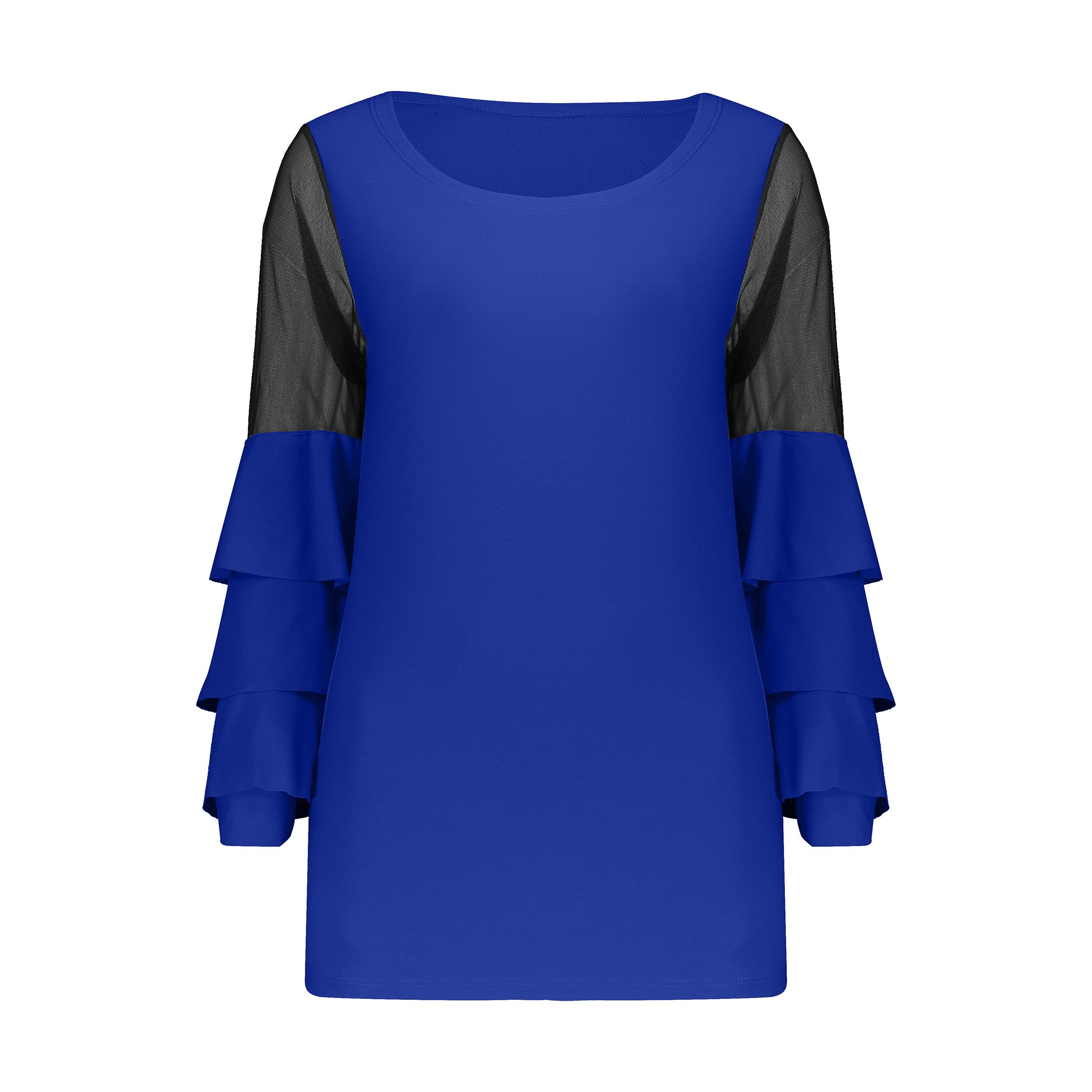بلوز زنانه مدل 705 رنگ آبی