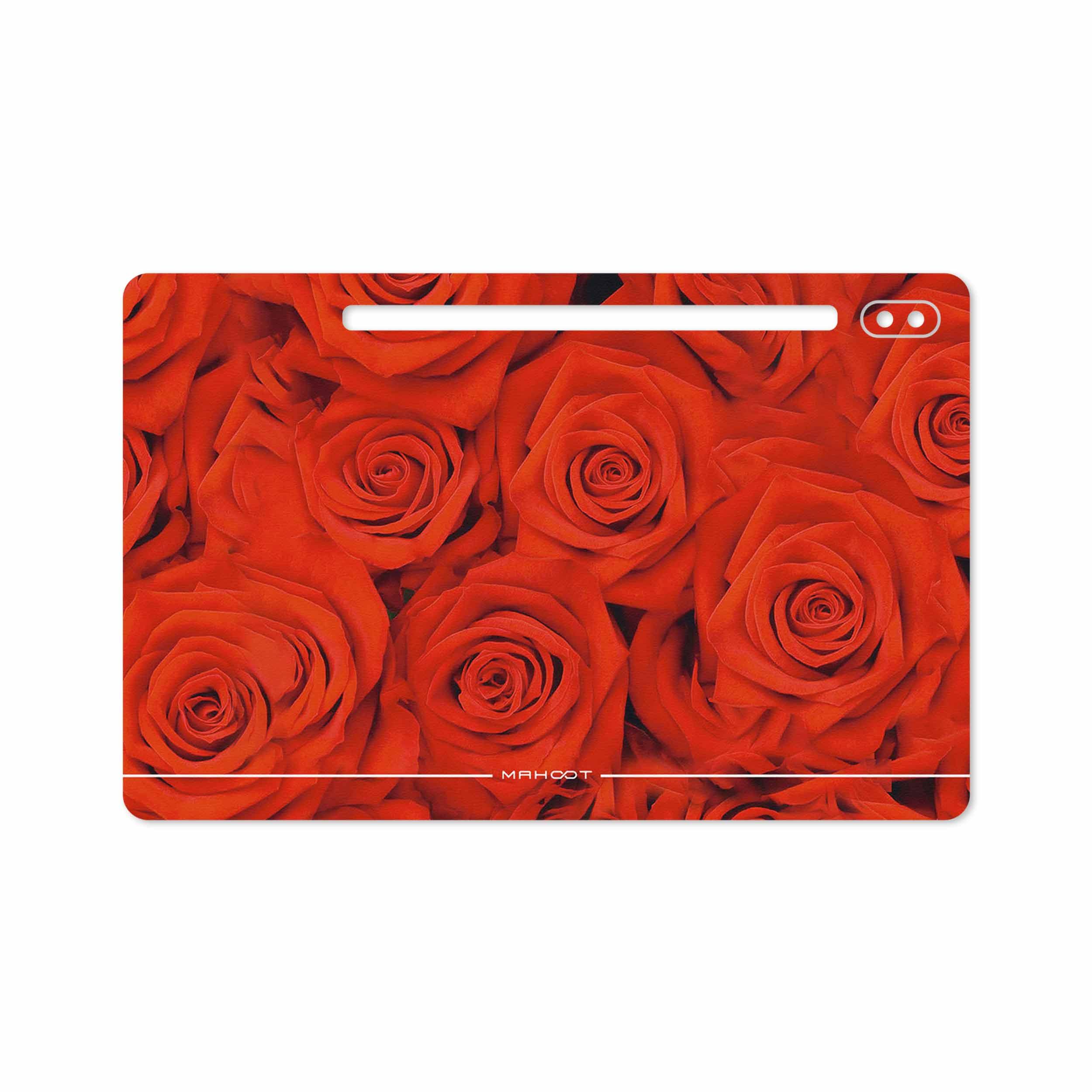 بررسی و خرید [با تخفیف]                                     برچسب پوششی ماهوت مدل Red-Flower مناسب برای تبلت سامسونگ Galaxy Tab S6 2019 SM-T865                             اورجینال