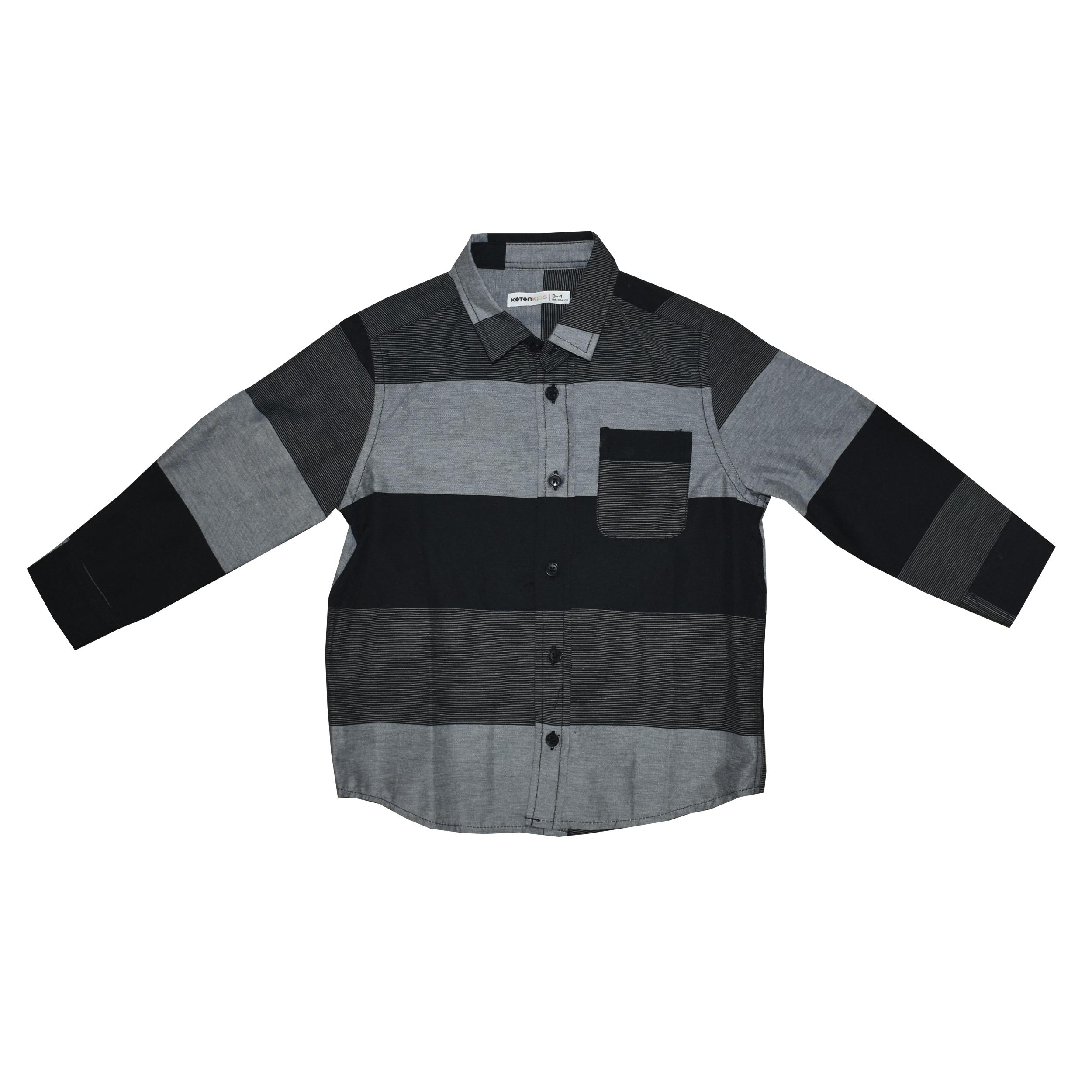 پیراهن نوزادی پسرانه  کوتون مدل DFR-8448 thumb 2 1