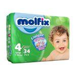 پوشک کودک مولفیکس سایز 4 بسته 34 عددی thumb