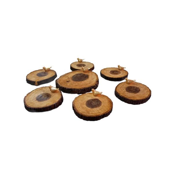 مجموعه ظروف هفت سین 7 پارچه چوبی کدCH007