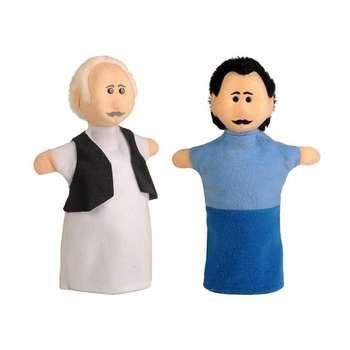 عروسک نمایشی مدل پدربزرگ و پدر کلبه مجموعه 2 عددی