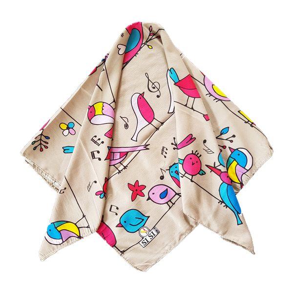 روسری دخترانه سی سی مدل پرنده کد san25