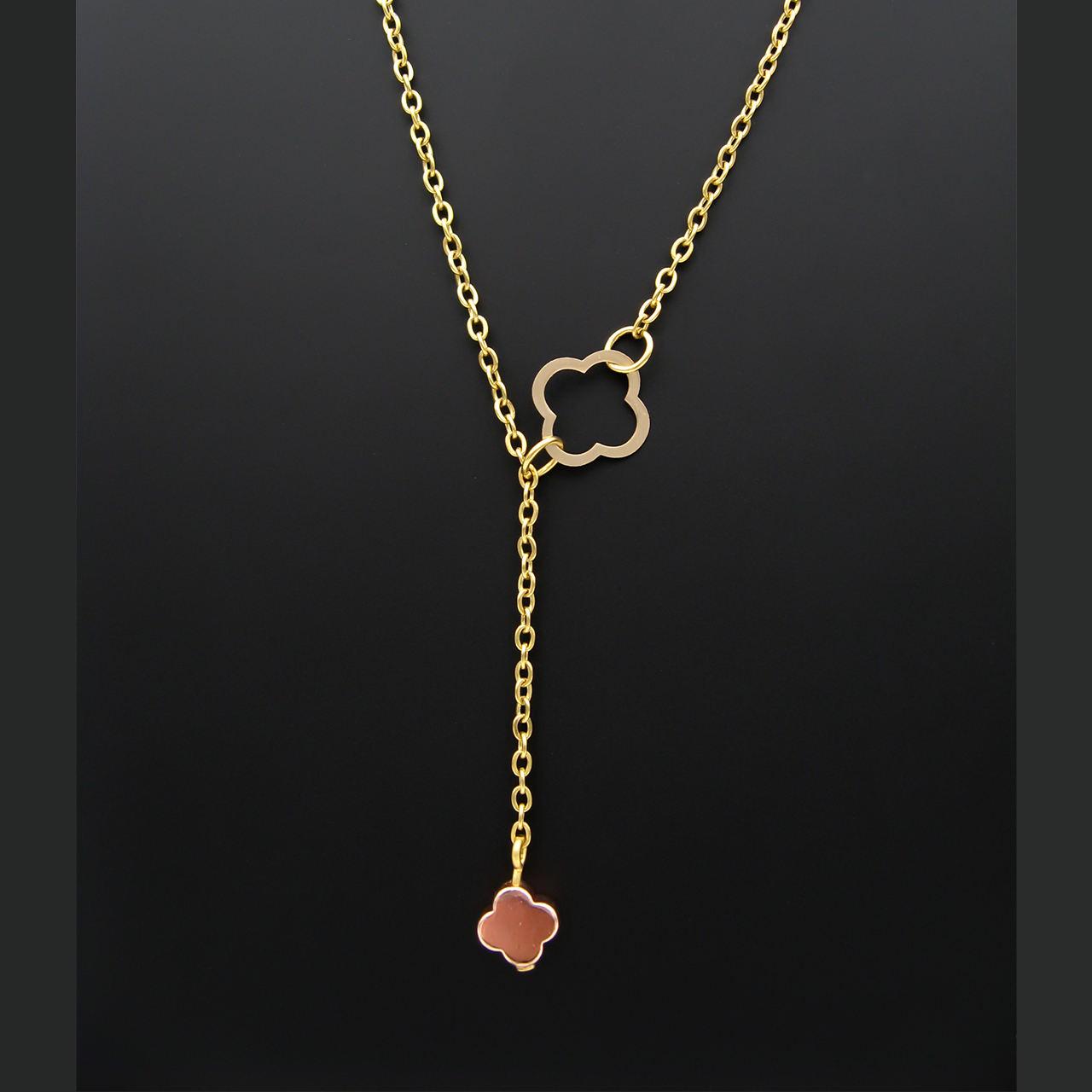 گردنبند طلا 18 عیار زنانه مانچو کد sfg652 -  - 4
