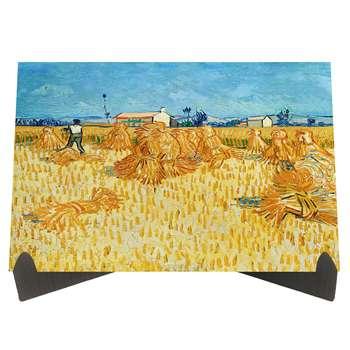 تابلو شاسی رومیزی طرح گندمزار اثر ونگوگ کد LS2301