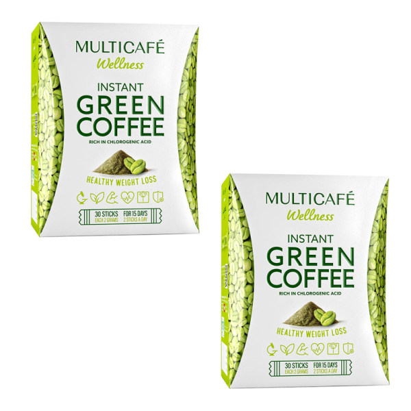 قهوه سبز فوری تندرستی مولتی کافه بسته 60 عددی
