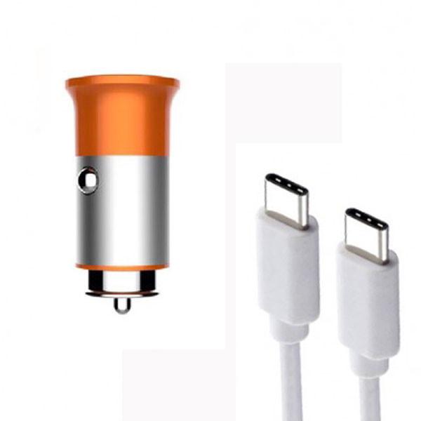 شارژر فندکی الدینیو مدل C61C به همراه کابل USB-C