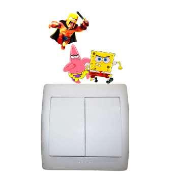 استیکر مستر راد طرح باب اسفنجی و پاتریک کد 008 SpongeBob