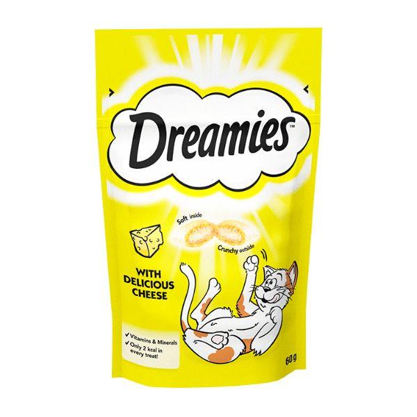 غذای تشویقی گربه دریمز مدل Snack With Cheese وزن 60گرم