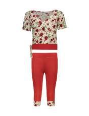 ست تی شرت و شلوارک زنانه کد 002 -  - 1