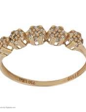 انگشتر طلا 18 عیار زنانه نیوانی مدل NR040 -  - 2