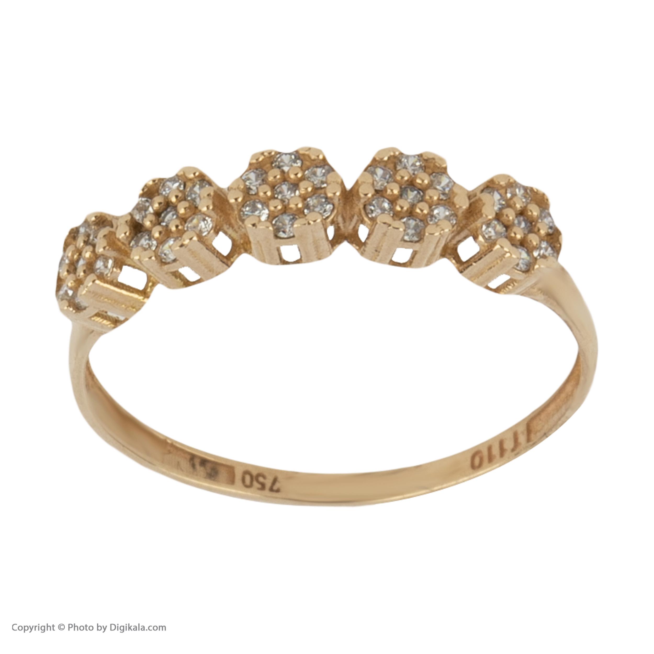 انگشتر طلا 18 عیار زنانه نیوانی مدل NR040 -  - 3
