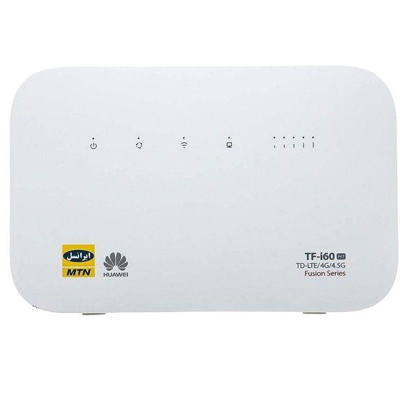 مودم 4G/TD-LTE ایرانسل مدل 4.5G TF-i60 H1 به همراه 480 گیگابایت اینترنت یک ساله و 135 گیگابایت اینترنت 6 ماهه و 2 عدد سیم کارت دائمی طلایی