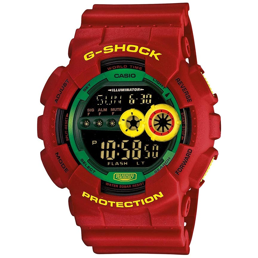 ساعت مچی دیجیتال مردانه کاسیو مدل جی شاک کد GD-100RF-4              👙
