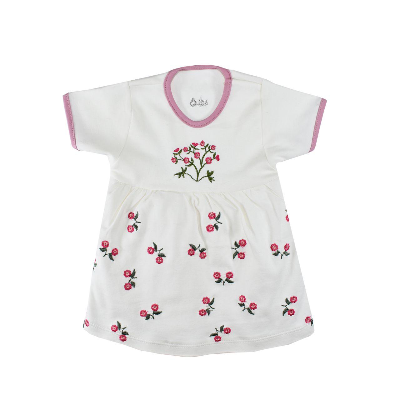 ست 5 تکه لباس نوزادی نیروان طرح گل کد 4 -  - 7