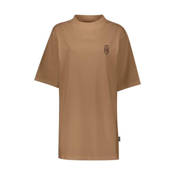 تی شرت آستین کوتاه زنانه پپا مدل MVP رنگ کاراملی