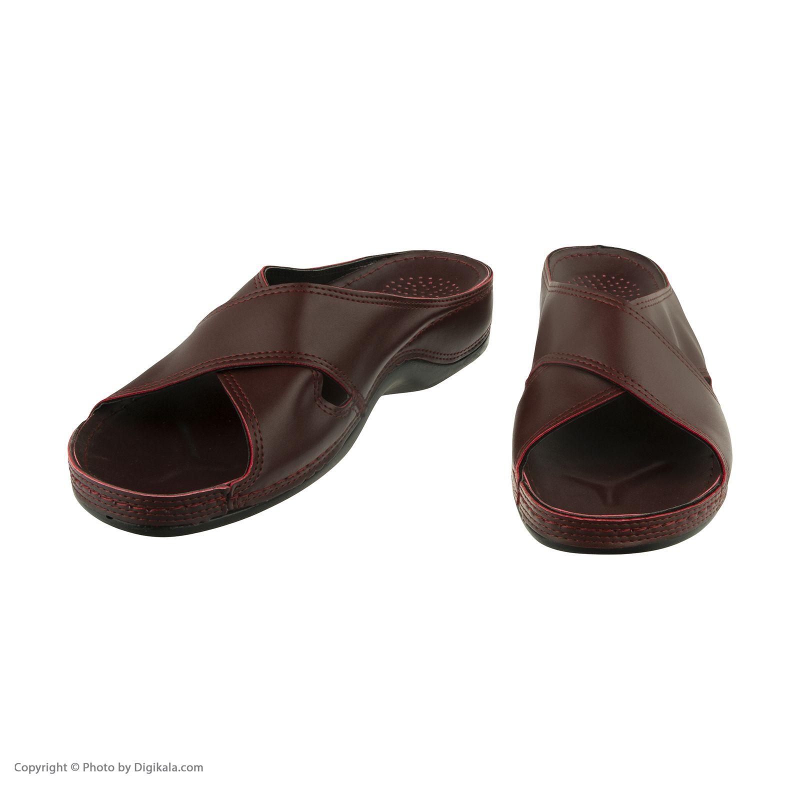 دمپایی زنانه کفش آویده کد av-0304505 رنگ زرشکی -  - 5