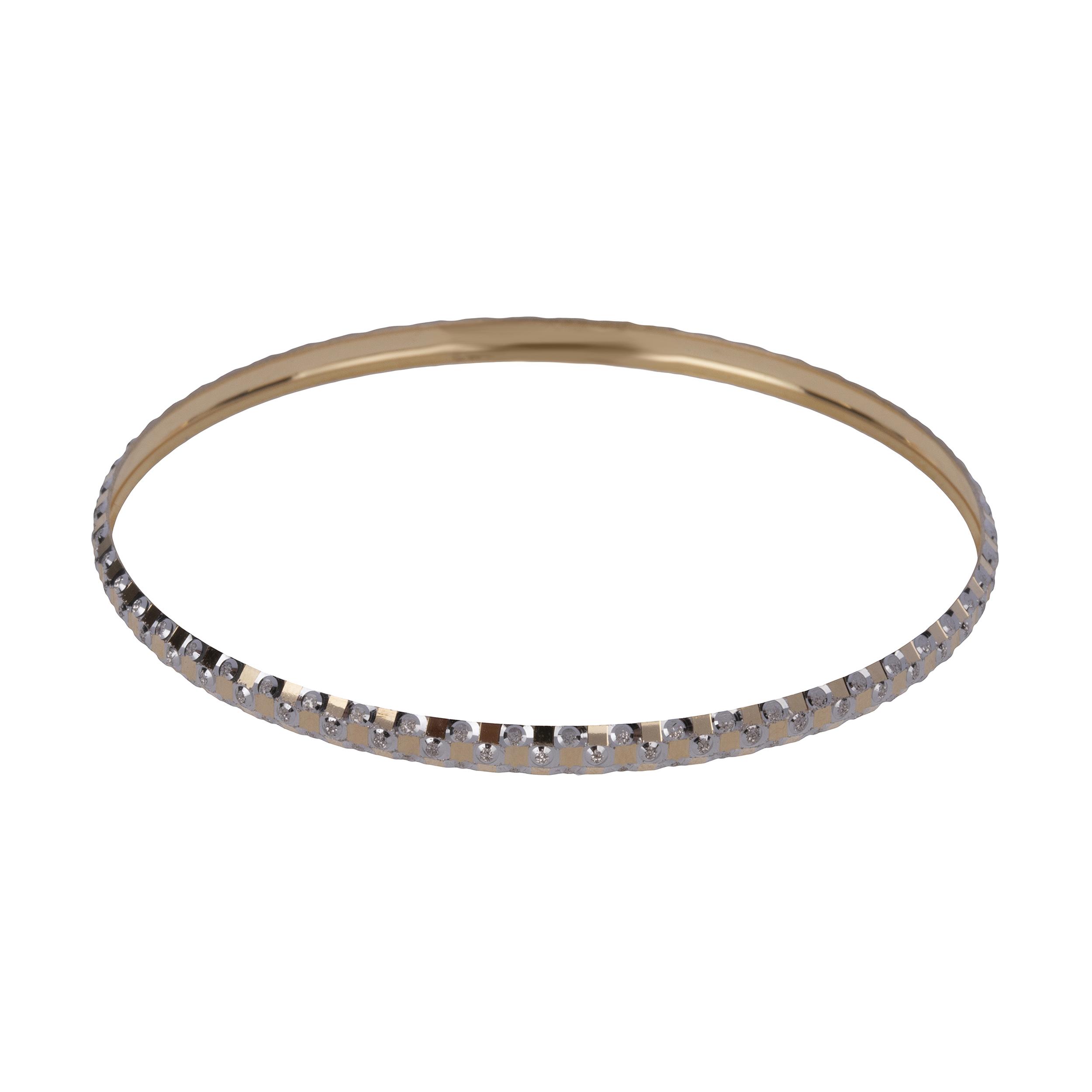النگو طلا 18 عیار زنانه گالری یارطلا کد AL43-W-4