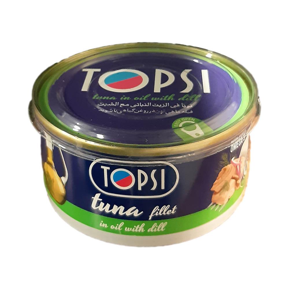 کنسرو ماهی تاپسی با طعم شوید - 180 گرم