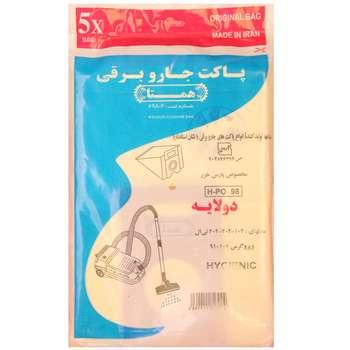 کیسه جارو برقی همتا  کد1166بسته 5 عددی مناسب برای جارو های پارس خزر