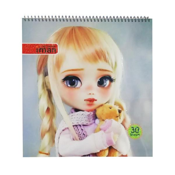 دفتر نقاشی 30 برگ ایمان طرح دختر بور کد 01