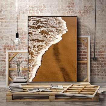 تابلو روما دیزاین طرح ساحل شنی و موج مدل A132d