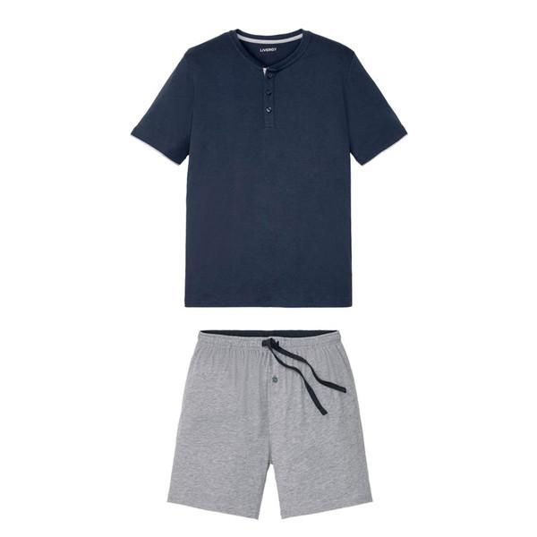 ست تی شرت و شلوارک مردانه لیورجی مدل p338691