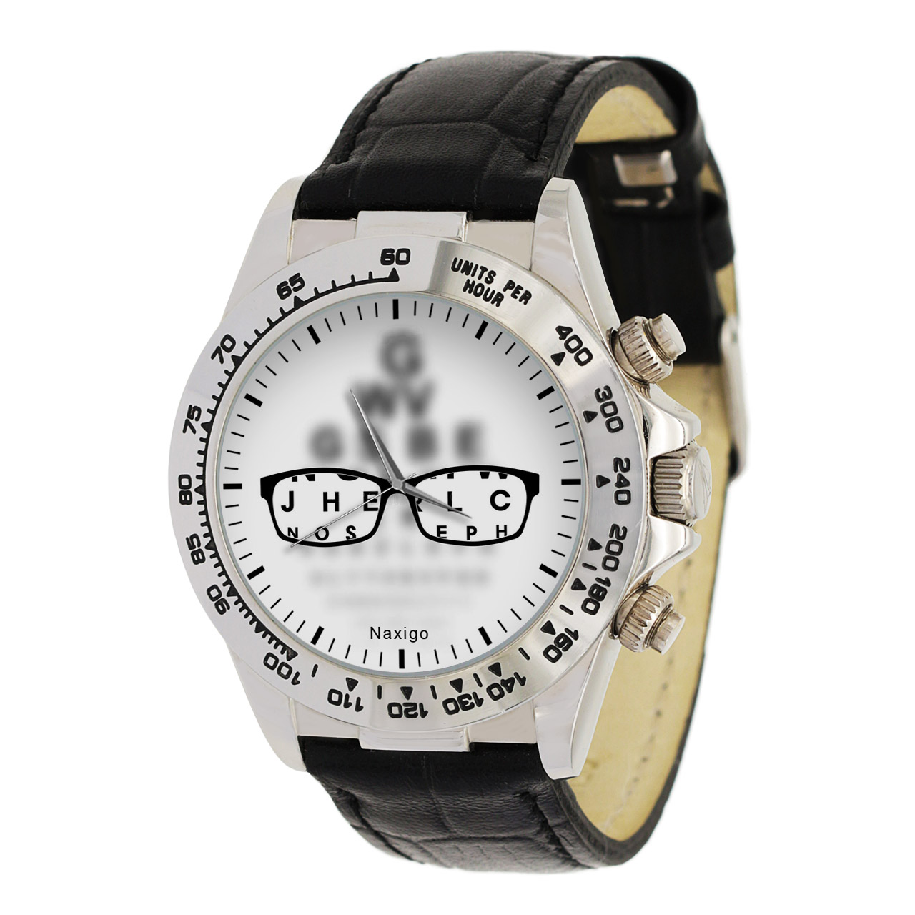 ساعت مچی  مردانه ناکسیگو طرح چشم پزشک کد LS3527