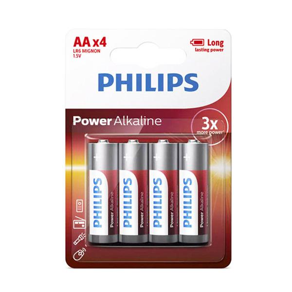 بررسی و {خرید با تخفیف} باتری قلمی فیلیپس مدل LR06P4B97 PHILIPS بسته 4 عددی اصل