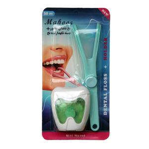 نخ دندان ماهور مدل 001 به همراه دسته نگهدارنده نخ